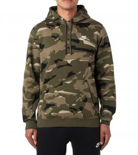 NIKE NSW CLUB CAMO PULLOVER HOODIE